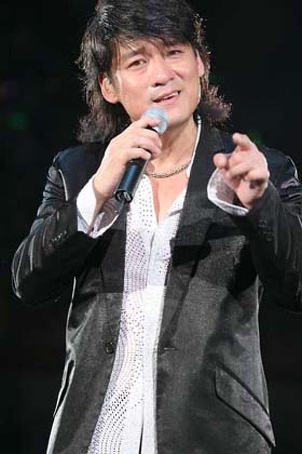 Hong Kong heart throb Emil Chau Wakin performs in Cantonese, Mandarin and English at the Bill Graham Civic Auditorium Feb. 10. Credit: Handout Photo: -
