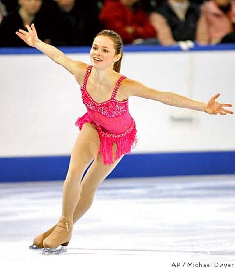 ** FOR USE AS DESIRED WITH 2006 TURIN WINTER OLYMPIC STORIES ** Sasha Cohen performs in the Marshalls US Figure Skating Challenge in Boston, Sunday, Dec. 11, 2005. (AP Photo/Michael Dwyer) DEC. 11, 2005 FILE PHOTO ** EFE OUT ** FOR USE AS DESIRED WITH 2006 TURIN WINTER OLYMPIC STORIES ** Photo: MICHAEL DWYER