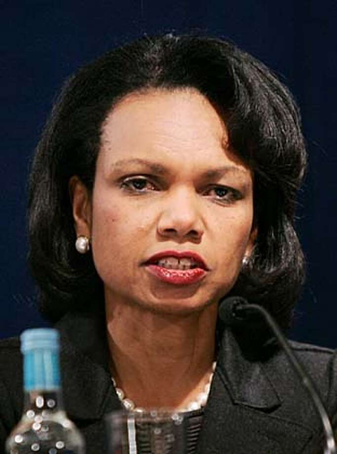 Secretary of State Condoleezza Rice has said Russia needs to shore up its democratic credentials. Associated Press photo by Matt Dunham