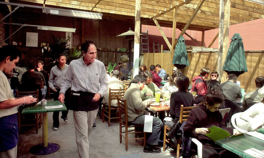 BALLPARK07B-C-04APR03-BU-KR  The Patio part of Primo. Primo Patio Cafe owners Noel and Chris Kelton are looking forward to opening day because they say it will give a boost to the neighborhood .Photo By Kurt Rogers CAT Photo: Kurt Rogers