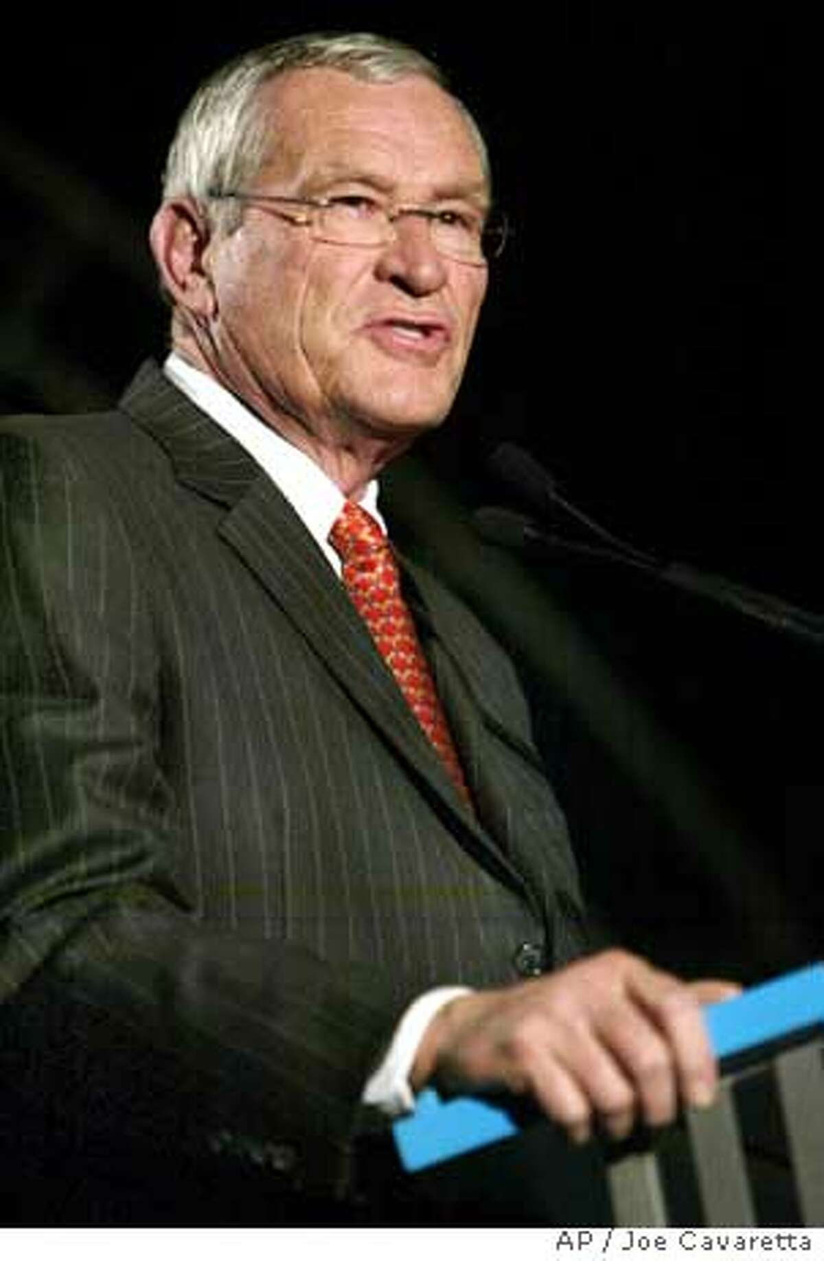 Ed , CEO of SBC address the Consumer Electronics Show Thursday, Jan. 6, 2005 at the Las Vegas Hilton. SBC Communications Inc., the nation's second largest local phone service provider, said Wednesday, Jan. 26, 2005, its earnings fell 16.7 percent in the fourth quarter and that it plans to cut 7,000 jobs this year in a bid to cut costs.