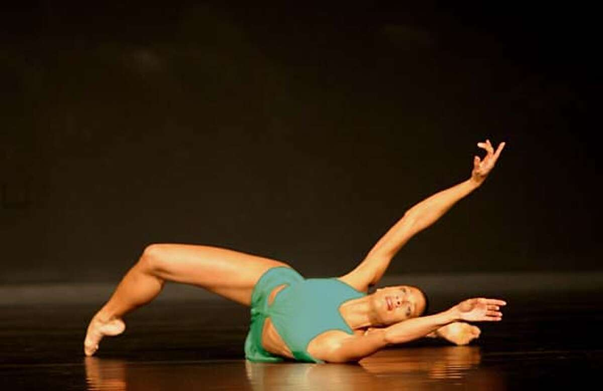 Black Choreographers andout art for Black Choreographers Fest--This is Stephanie Powell in Donald McKayle's