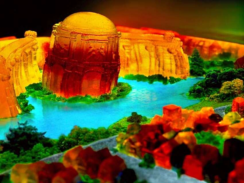 Palace of Fine Arts, 2006, San Francisco in Jell-O series. Liz Hickok is a San Francisco-based artist working in photography, video, sculpture, installation, and currently, Jell-O.