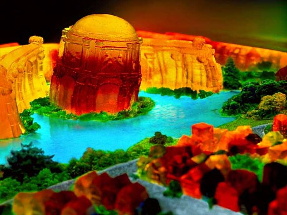 Palace of Fine Arts, 2006, San Francisco in Jell-O series.  Liz Hickok is a San Francisco-based artist working in photography, video, sculpture, installation, and currently, Jell-O. Photo: -