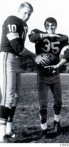 holmgren04_allcityQB Mike Holmgren and Tony Blass at Lincoln High in 1965. handout Photo: Handout