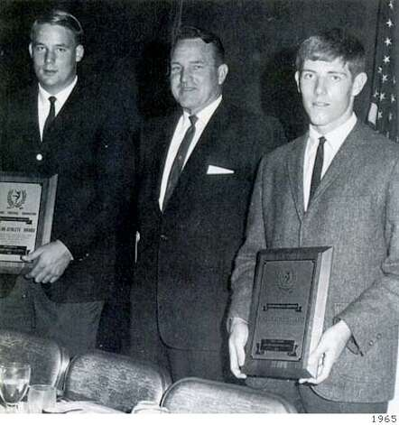 From left: Mike Holmgren, Coach Bill Holland, John Jamison in 1965. handout Photo: Handout
