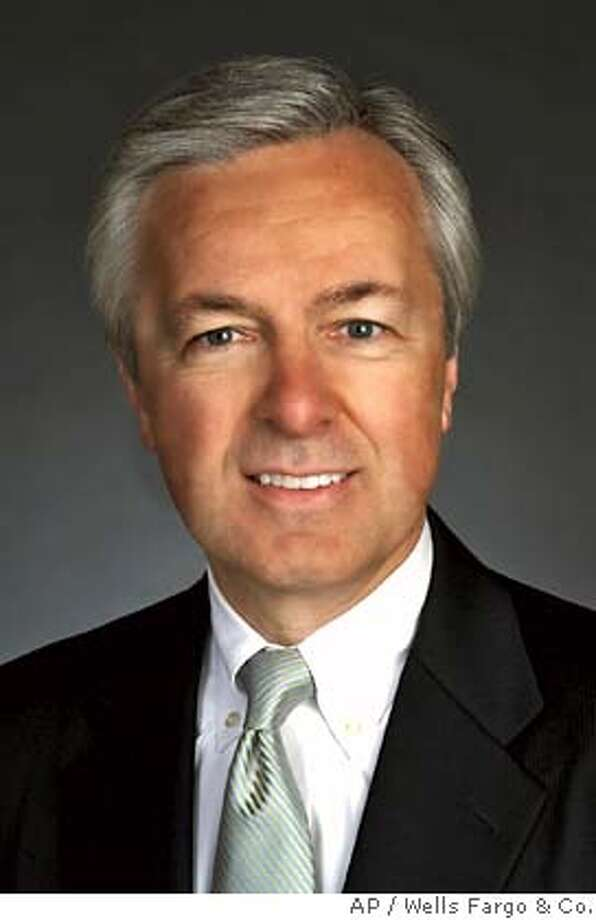 John Stumpf is seen in this undated photo provided by Wells Fargo & Co. Wells Fargo & Co. Chairman Richard Kovacevich has turned over the chief executive's reins to Stumpf in a long-planned change in command at the nation's fifth largest bank. Although Stumpf took over as CEO Wednesday,June 27, 2007, Kovacevich plans to remain as chairman through the end of next year when he will turn 65 _ the mandatory retirement age for Wells Fargo's top executives. (AP Photo/Wells Fargo & Co., Cindy Charles) Ran on: 06-28-2007  Stumpf NO SALES Photo: Wells Fargo