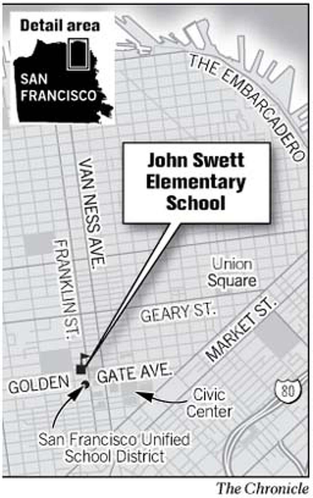 John Swett Elementary School. Chronicle Graphic
