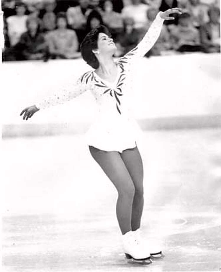 Yvonne Gomez, USF figure skater, circa 1985. Credit: Handout Photo: Adfadf