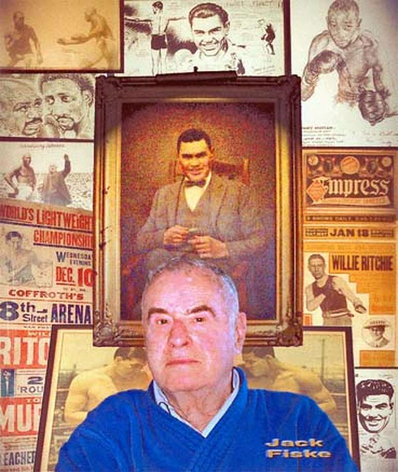 Jack Fiske, boxing writer for the Chronicle  taken in his home. 2003 Photo: Handout
