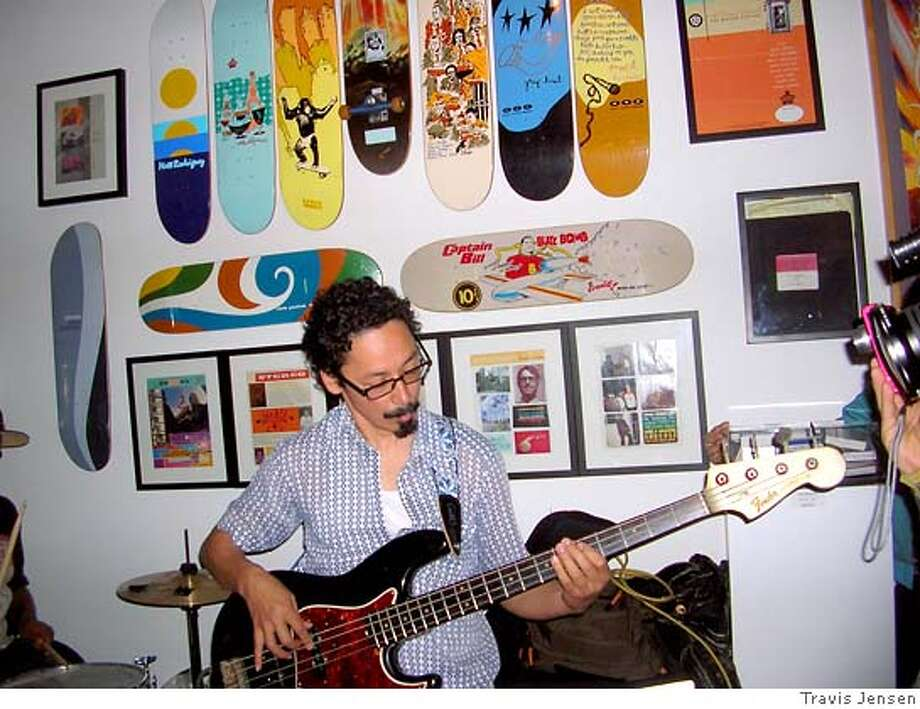 Tommy Guerrero jams at the Stereo Skateboards 15 Year Anniversary Show Photo: Travis Jensen