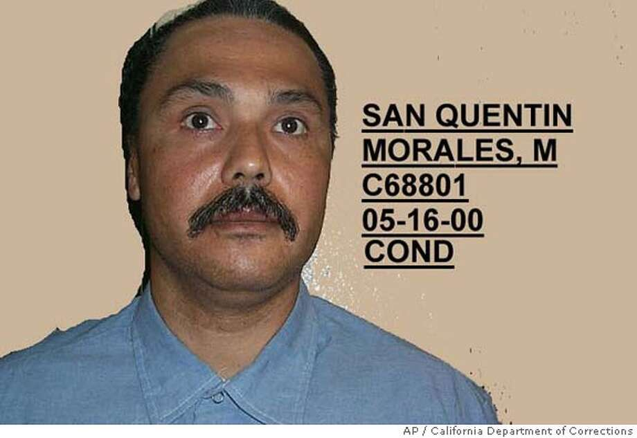 ** FILE ** This is an undated photo of Michael Morales provided by the California Department of Corrections. Morales, 46, was condemned to death for the 1981 rape and murder of 17-year-old Terri Lynn Winchell in Lodi, Calif., and is expected to die in February 2006. A federal judge will hear claims from a Morales that the U.S. Constitution's prohibition against cruel and unusual punishment is violated by California's lethal injection procedures. Former Whitewater independent counsel Ken Starr will file a clemency petition on behalf of Morales. (AP Photo/California Department of Corrections) IMAGE DIGITALLY ALTERED BY SOURCE PHOTO PROVIDED BY CALIFORNIA DEPARTMENT OF CORRECTIONS Photo: AP