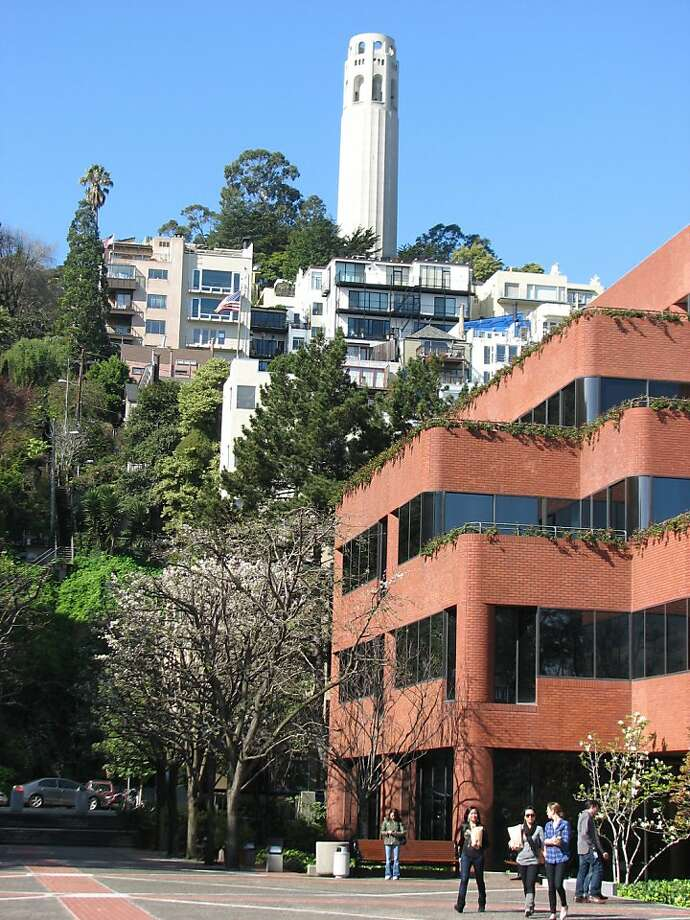 Coit Tower is iconic as any building in San Francisco -- even though it's the sort of thing, an ornate tower on Telegraph Hill, that today would not be allowed. Photo: John King