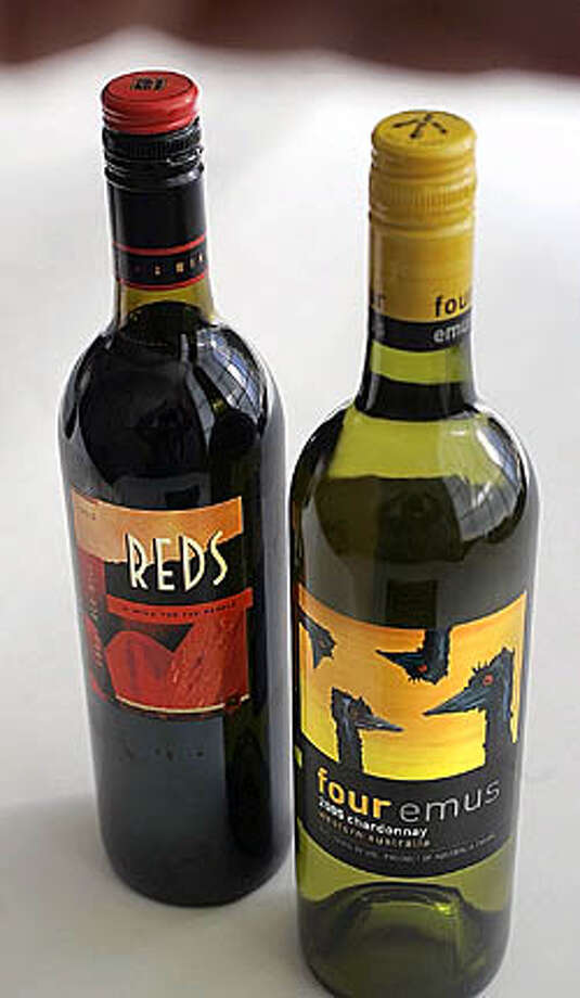 2003 Laurel Glen Lodi Reds and 2005 Four Emus Western Australia Chardonnay Photo: The Chronicle