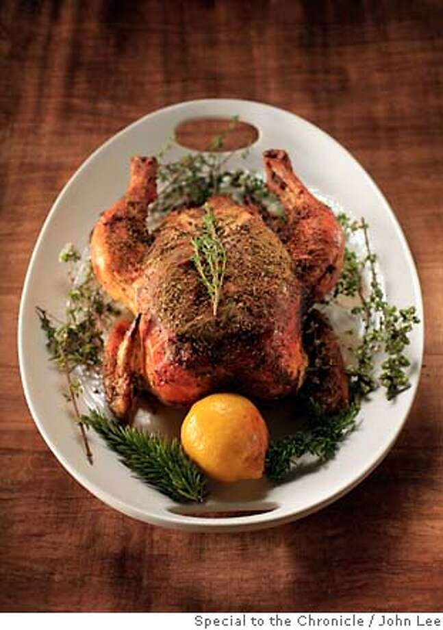 CHICKEN05_01_JOHNLEE.JPG  For Chicken and Egg issue. Traci des Jardin's roast chicken.  By JOHN LEE/SPECIAL TO THE CHRONICLE Photo: John Lee
