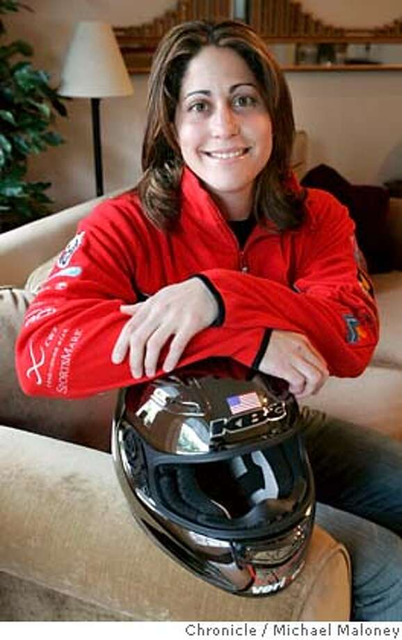 BOBSLED_006_MJM.jpg  Valerie Fleming is a bobsled Olympic hopeful (the winter Olympics are at the beginning of 2007 in Turin) who lives in Foster City. Photo by Michael Maloney / San Francisco Chronicle Ran on: 06-14-2005  Ron Gonzales Ran on: 06-14-2005  Foster City native Valerie Fleming is competing for a spot on the U.S. bobsled team in the Winter Olympics. MANDATORY CREDIT FOR PHOTOG AND SF CHRONICLE/ -MAGS OUT Photo: Michael Maloney