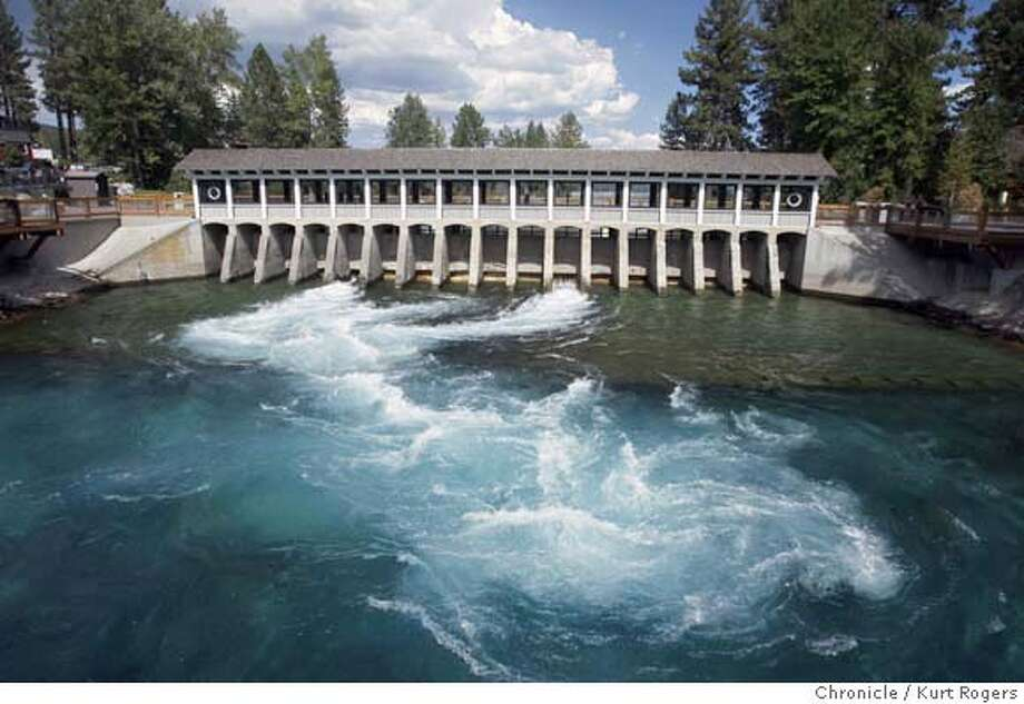 The Outlet Dam has been restored with a new public plaza on both sides with a museum. Now from Fanny Bridge their is a view through the building at the lake.  Lake Tahoe and its environment.  TUESDAY, AUG 28, 2007 KURT ROGERS LAKE TAHOE SFC  THE CHRONICLE .jpg MANDATORY CREDIT FOR PHOTOG AND SF CHRONICLE / NO SALES-MAGS OUT Photo: KURT ROGERS