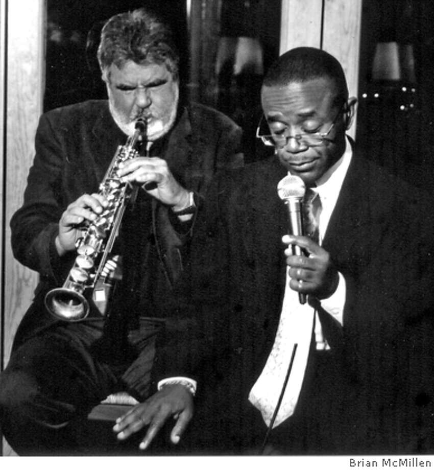 Michael O'Neill (left) accompanies Kenny Washington. O'Neill  books jazz acts at Cetrella in Half Moon Bay. Credit: Courtesy Brian McMillen Ran on: 12-09-2005  Sax player Michael O'Neill with jazz and blues singer Margie Baker. The two perform Saturday at Cetrella in Half Moon Bay. Ran on: 12-09-2005  Michael O'Neill (left) accompanies Kenny Washington at Cetrella in Half Moon Bay, where O'Neill books jazz acts. Photo: Courtesy Brian McMillen