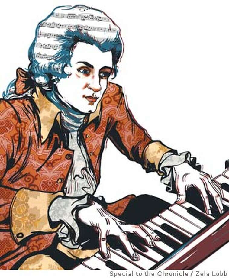The great magician Mozart was born 250 years ago, and we still don�t know how he did his tricks. (illustration by Zela Lobb)