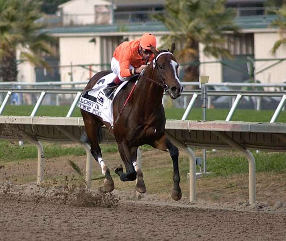 lost in the fog wins again Ran on: 10-02-2005  Russell Baze rides Lost in the Fog to a 73-4-lengths victory in the Bay Meadows Speed Handicap. Ran on: 10-02-2005 Ran on: 10-02-2005  Russell Baze rides Lost in the Fog to a 73-4-lengths victory in the Bay Meadows Speed Handicap. Ran on: 10-02-2005 Ran on: 10-02-2005 Photo: Courtesy Photo