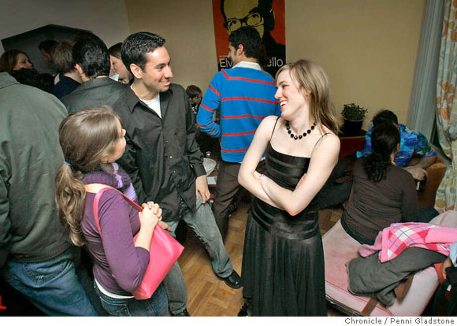 Alicia talks with friends Alice Potter and Ryan Traughder. Alicia Parlette at her birthday party. She turned 24 just days before.  Photo by Penni Gladstone/The San Francisco Chronicle  Photo taken on 1/13/06, in San Francisco, CA. Photo: Penni Gladstone
