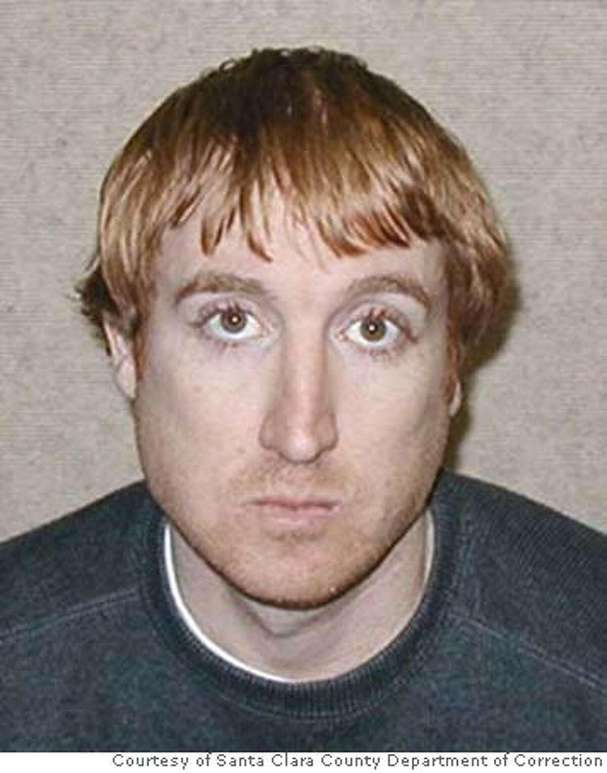 Booking mug for Capt. Sargent Binkley. Binkley, a former Army Ranger from Los Altos, faces a lengthy prison sentence for robbing two pharmacies of drugs at gunpoint in 2006. Photos Courtesy of Santa Clara County Department of Correction MANDATORY CREDIT FOR PHOTOG AND SAN FRANCISCO CHRONICLE/NO SALES-MAGS OUT