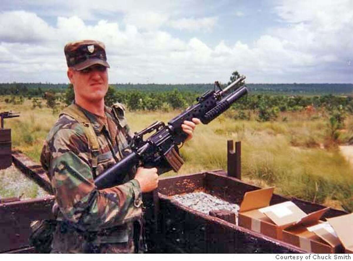 Capt. Sargent Binkley's during summer training at Fort Jackson. Binkley, a former Army Ranger from Los Altos, faces a lengthy prison sentence for robbing two pharmacies of drugs at gunpoint in 2006. Photos Courtesy of Chuck Smith MANDATORY CREDIT FOR PHOTOG AND SAN FRANCISCO CHRONICLE/NO SALES-MAGS OUT