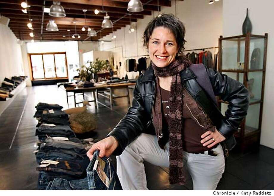ONTHETOWN_SHARON_006_RAD.JPG SHOWN: Sharon Eisenhauer, the founder of Haiku Bags, at one of her favorite places: August, a boutique clothing store in Rockridge. Photo taken on 1/16/06, in BERKELEY, CA.  By Katy Raddatz / The San Francisco Chronicle MANDATORY CREDIT FOR PHOTOG AND SF CHRONICLE/ -MAGS OUT Photo: Katy Raddatz