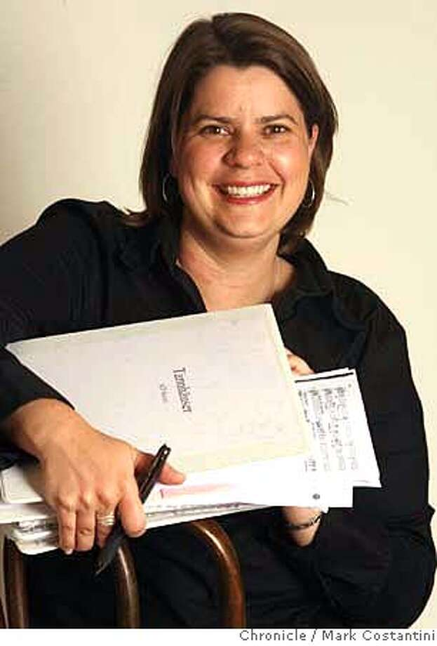 """Stephanie Smith with music and notes for the opera she is directing. She's assistant director at SF Opera, and will be working on Labor Day doing rehearsals for Wagner's """"Tannhauser"""". Photo: Mark Costantini / S.F. Chronicle Photo: Mark Costantini"""