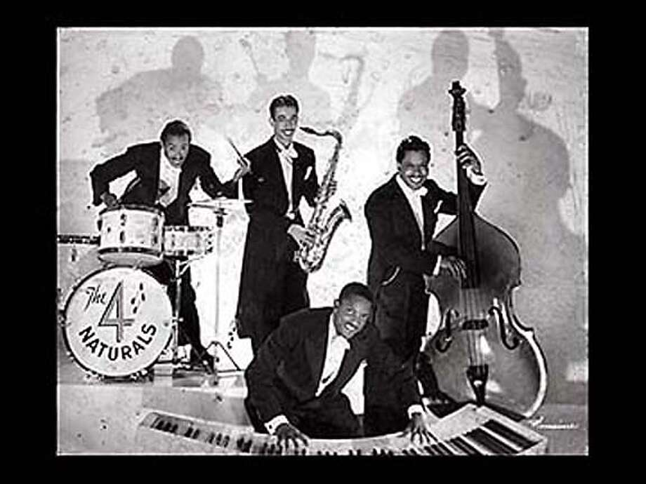 Four Naturals (1951) Sammy Simpson, Saxophone, Eddie Hammonds, Bass, Frank Jackson, Piano and Delmar Smith, Drums. Images from the Fillmore Jazz District Curated by Lewis Watts. Ran on: 01-22-2006  The 4 Naturals (top photo at left) were among the many jazz bands playing in Fillmore District clubs like the Texas Playhouse (below left). Ran on: 01-22-2006 Photo: Ho