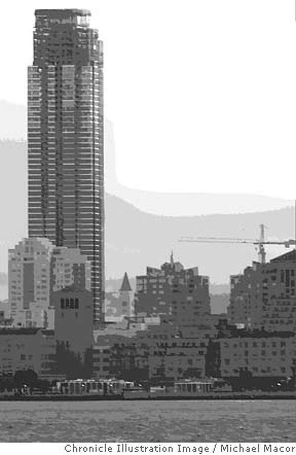 Towering Above Quake Country. Chronicle photo illustration by Michael Macor