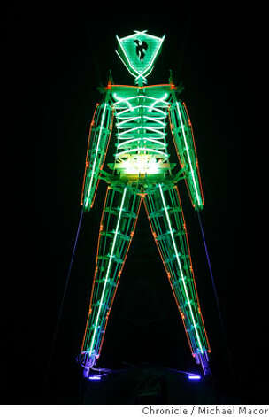 The Green Man. One night before the burn. Burning Man 2007. Photographed in, Black Rock City, Nv, on 8/31/07. Photo by: Michael Macor/ The Chronicle Photo: Michael Macor