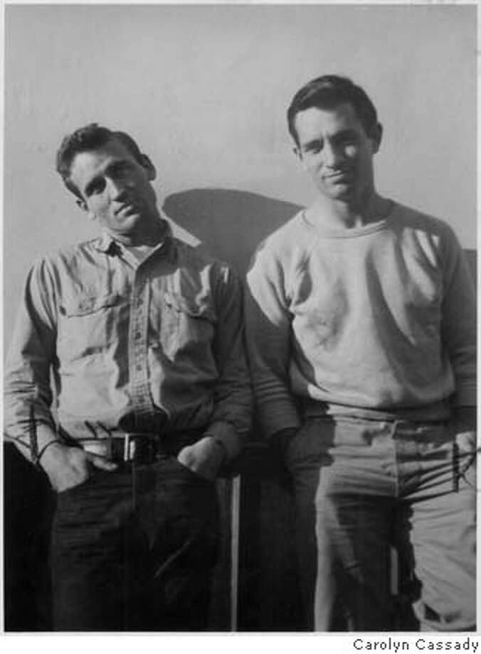 "Neal Cassady and Jack Kerouac in 1952. In ""On the Road,"" Dean Moriarty is based on Cassady and narrator Sal Paradise is Kerouac. Photo by Carolyn Cassady"