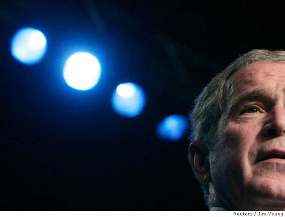 U.S. President George W. Bush speaks at the 89th Annual American Legion Convention in Reno, Nevada, August 28, 2007. REUTERS/Jim Young (UNITED STATES)  Ran on: 09-02-2007  President Bush let his guard down during interviews with Robert Draper, whose book about the president will be released Tuesday. Photo: JIM YOUNG