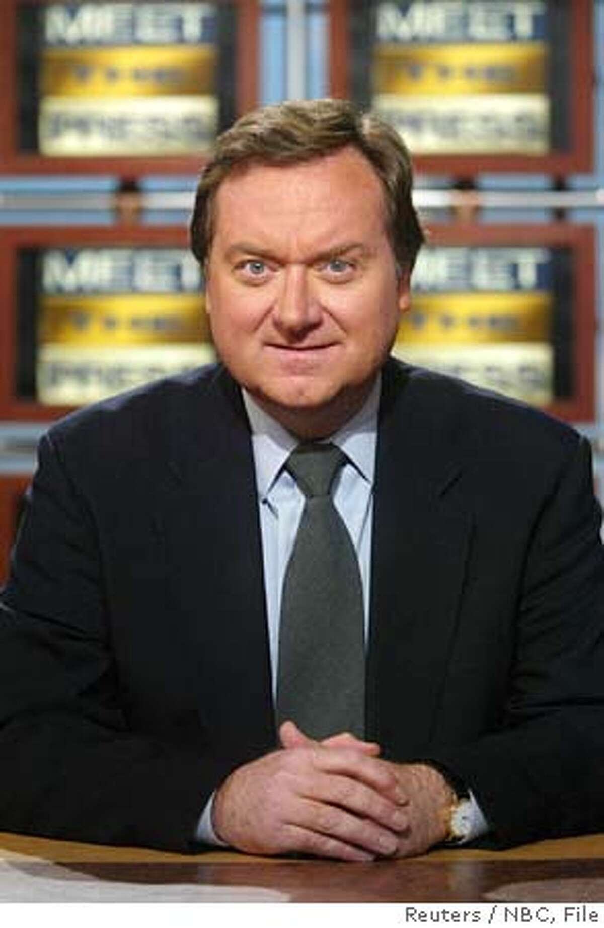 """A federal judge ordered that Tim Russert of NBC's """"Meet the Press"""" and Matthew Cooper of Time magazine must testify in the investigation into whether the Bush administration illegally leaked a covert CIA officer's name to the media. The judge rejected requests to quash subpoenas to Russert, shown in a 2004 photo, and Cooper for violating their First Amendment rights. NO ARCHIVES REUTERS/Nbc/Handout Ran on: 08-10-2004 Tim Russert of Meet the Press was interviewed by a special counsel Saturday, NBC said. Ran on: 08-10-2004 0"""