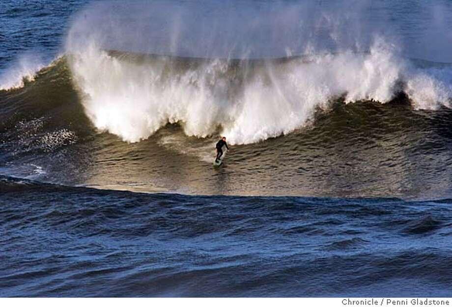 Legendary Mavericks surf competition practice  Photo by Penni Gladstone/The San Francisco Chronicle  Photo taken on 1/19/06, in Half Moon Bay, CA. Photo: Penni Gladstone