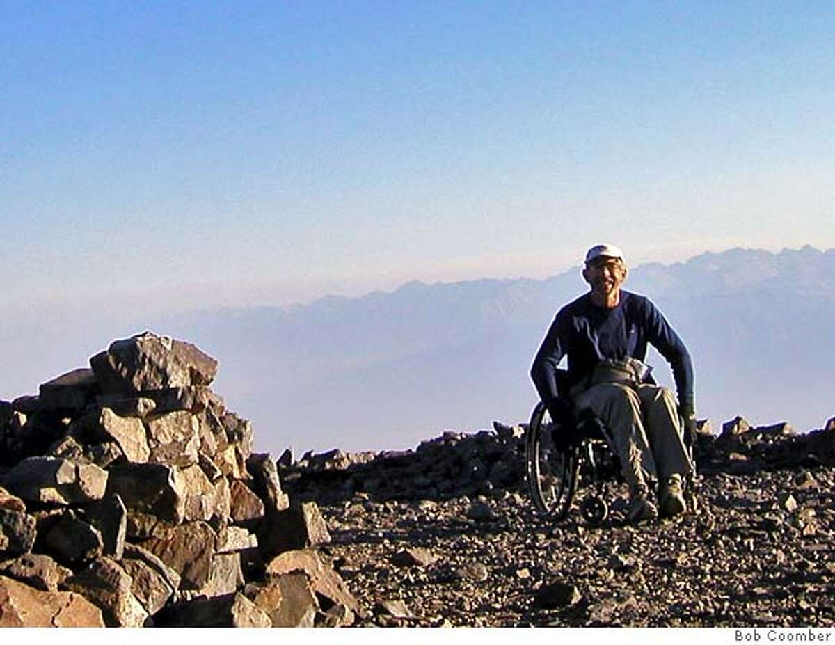 What a feeling. White Mtn summit at last. Bob Coomber White Mountain Photos August 2007. CR: Bob Coomber