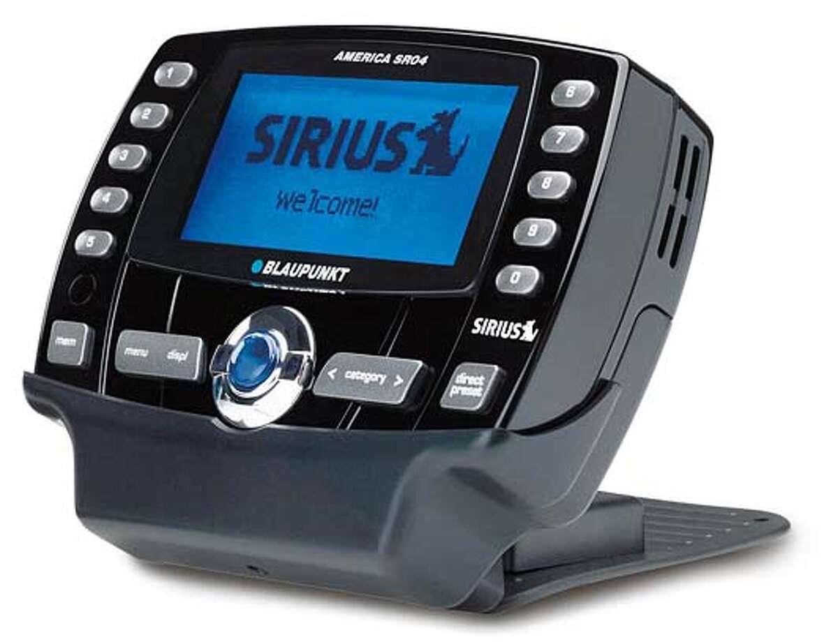 Sirius radios for Howard Stern fans, Blaupunkt America SR04.