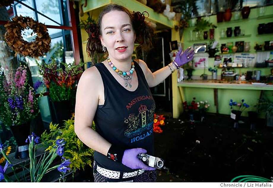 REED02_021_LH_.JPG Berkeley storekeepers are complaining about preachers who blast their message through megaphones. Gwynn Coffee at Telegraph Flowers is among the complainants.  Liz Hafalia/The Chronicle/BERKELEY/8/30/07  **Gwynn Coffee cq Ran on: 09-02-2007  For Gwynn Coffee, flowers aren't enough to pull customers through a wall of amped-up preaching. Photo: Liz Hafalia