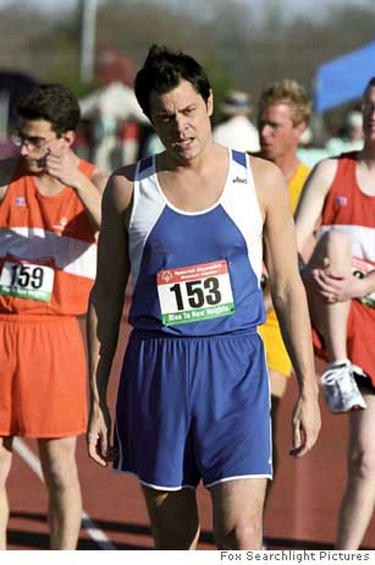 """In this photo provided by Fox Searchlight Pictures, to pay off a debt, Steve (Johnny Knoxville), poses as a contestant in Special Olympics, hoping to dethrone reigning champion, in """"The Ringer."""" (AP Photo/Fox Searchlight Pictures) Ran on: 12-23-2005 Steve (Johnny Knoxville) poses as a contestant in the Special Olympics, hoping to dethrone the champion. Ran on: 01-15-2006 Johnny Knoxville in the Special Olympics in The Ringer."""