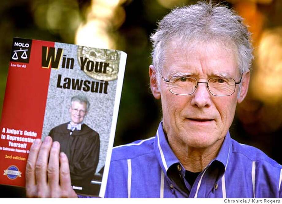 """Retired Alameda County Superior Court Judge Rod Duncan has written a how-to book called """"Win Your Lawsuit: A Judge's Guide to Representing Yourself."""" He is also working on a similar book about divorce court.  Kurt Rogers BERKELEY SFC  The Chronicle Photo: Kurt Rogers"""