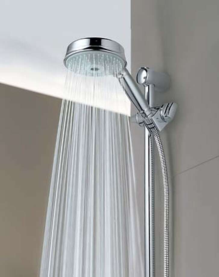 Rustic shower head Outdoor Grohes Rainshower Rustic Showerhead Shower Ideas Around The House Hightech Showerhead Adds Splash Of Class Sfgate