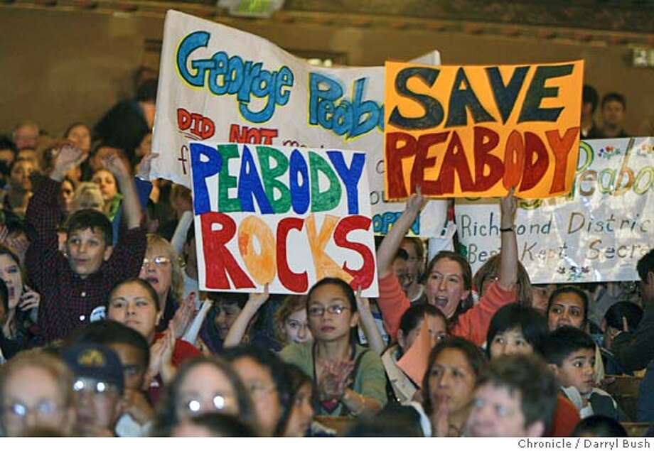 Upset and angry over possible school closures, parents, students & teachers attend a meeting held by the San Francisco school board at Everett Middle School auditorium.  Event on 1/12/06 in San Francisco.  Darryl Bush / The Chronicle Photo: Darryl Bush