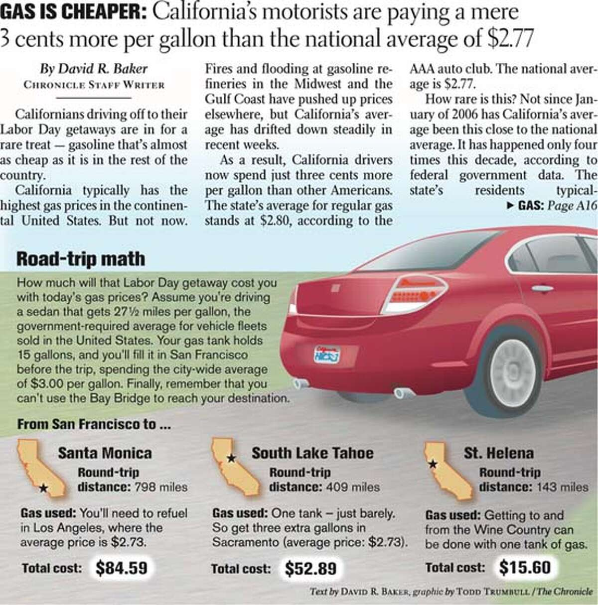 Road Trip Math. Chronicle graphic by Todd Trumbull, text by David R. Baker