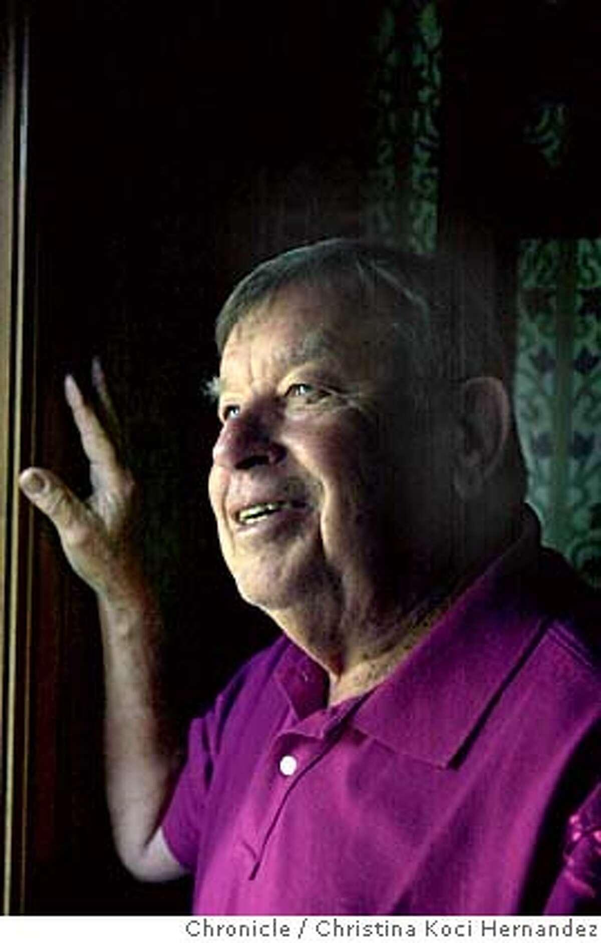 {elwood_100903_ckh} Photo of Phil Elwood, former examiner jazz critic, at his Berkeley home. Photo taken on {10/09/03}, in {Berkeley}, {CA}. CHRISTINA KOCI HERNANDEZ / The San Francisco Chronicle