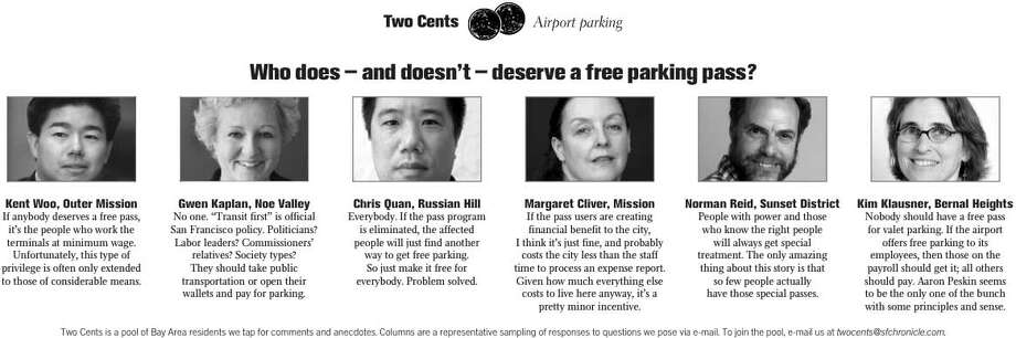 Two Cents: Who does -- and doesn't -- deserve a free parking pass?