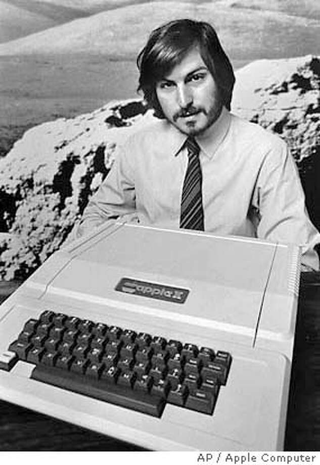 This is a 1977 photo of Apple Computer Inc. founder Steve Jobs as he introduces the new Apple II in Cupertino, Calif. Apple Computer was formed 20 years ago, on April Fool's Day in 1976. (AP Photo/Apple Computers Inc., file) Photo: ?