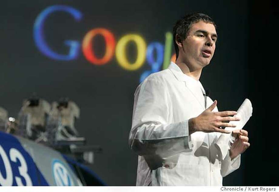 Larry Page, Google�s Co-Founder and President, was the last key note speech of the CES confrence .  Consumer Electronics Show in Las Vegas .  Kurt Rogers LAS VEGAS SFC  The Chronicle Photo: Kurt Rogers