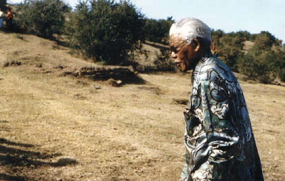 Nelson Mandela on his 87th birthday -- July 18, 2005 -- visits his birthplace of Mvezo in the Eastern Cape. Photo courtesy of the Nelson Mandela Foundation