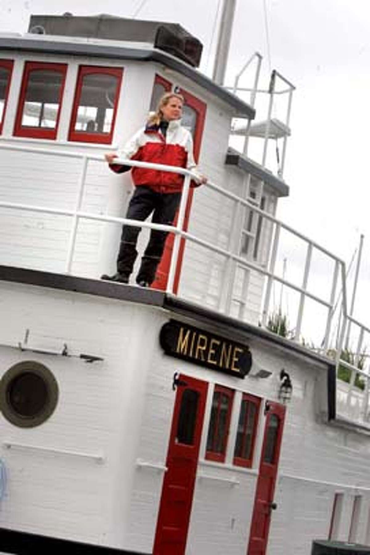 Magazine profile of Ryan Phelan(pictured here on the tugboat she lives on), who recently started her newest venture, DNA Direct, which offers genetic testing kits for home use. The idea is the most controversial of her projects. Married to former Whole Earth Catalogue guru Stewart Brand, Phelan is part of the band of entrepreneurs in the Bay Area who say they can do well (as in piles of money) by doing good work. Event on 12/01/05 in San Francisco Photo: Mark Costantini /San Francisco Chronicle